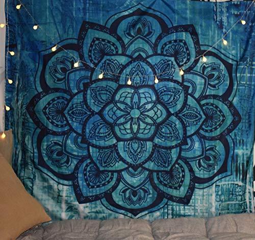"""Easy-Room Tapiz Mandala para Colgar en la Pared, Tapiz Indio para decoración del hogar, 3 Flower, 59"""" x 51"""" (150 x 130 cm)"""
