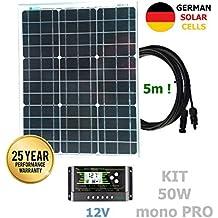 Kit 50W PRO 12V pannello solare monocristallino celle tedesche