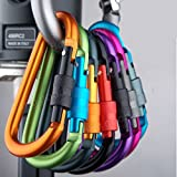 Bazaar Outdoor Multi Farben Sicherheitsschnalle Aluminium Karabiner Schlüsselanhänger