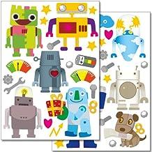 Pegatinas para la pared Wandkings «Robots» - Juego de adhesivos de 40 unidades en 2 hojas DIN A4
