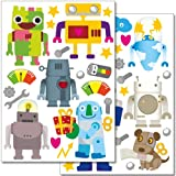 Wandkings Roboter Wandsticker Set
