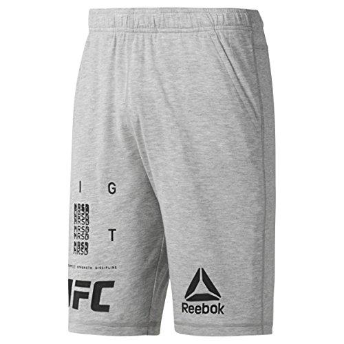 Reebok UFC FG Short Pantalón Corto, Hombre, Gris (Brgrin), L