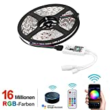 Opard Led Strip alexa 5m - LED Streifen mit RF Fernbedienung Google Home, Wifi Wireless Smart Phone Gesteuert - LED Stripes Wasserdicht 150Leds 5050 SMD RGB LED Band