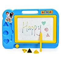 Jiacheng29 Erasable Magnetic Drawing Board Doodle Toy with Pen Stamper for Kids Child Gift