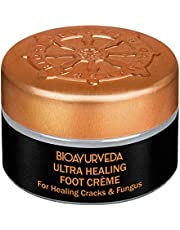 BIOAYURVEDA Ultra Healing Foot Cream| Non Greasy Foot Moisturizer| Natural Lavender & Eucalyptus - Soothes Dry, Cracked, Rough, Callused Heels & Feet, Toenail Infection, Scars| All Skin Type 20GM