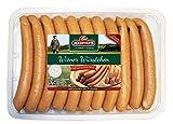 Wiener Würstchen | traditionell Buchenholz geräuchert | Wurst im Naturdarm | Würstel in Premium-Qualität | 20 x 50 g
