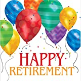 Happy Retirement Ballon Blast Servietten Badger Inks Tonerpatronen