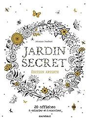 Jardin secret - Edition artiste - 20 affiches à colorier et à encadrer
