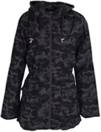 e8cbb03c289e4 Click Selfie® New Ladies Plus Size Military Camo Zipper Roll Up Showerproof MAC  Raincoat Jacket