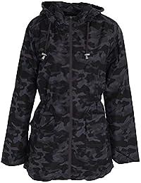 4e76b36020 Click Selfie® New Ladies Plus Size Military Camo Zipper Roll Up Showerproof  MAC Raincoat Jacket