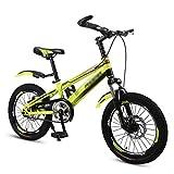 Vélos for Enfants Vélos Étudiants VTT for Les 6-10-16 Ans Vélo 18 Pouces Pouces (Color : Yellow, Size : 18 inches)