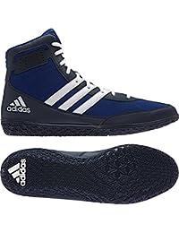 adidas Rendimiento Hombre alfombrilla asistente. 3de lucha libre zapatos - AQ6201, 15 D(M) US, Azul/Blanco/Azul Marino (Royal/White/Navy)