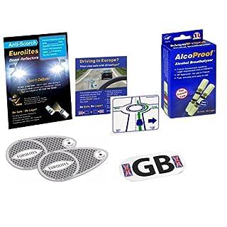 Eurolites Scheinwerfer-Adapter mit Alcoproof Doppelpack, magnetischer Platte und Anzeige zum Fahren auf der rechten Spur