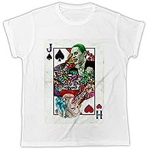 Uk print king Joker Harley Quinn Playing Cards Divertida, Fresca, Regalo, Diseñada, Camiseta Unisex