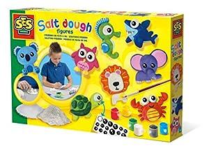 SES Creative Figuras de Masa de Sal - Kits de Manualidades para niños (Kit de Manualidades para niños, Cepillar, Arcilla de modelar, Pintura, Pegatinas, Niño/niña, 5 año(s), Niño, Multicolor)