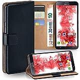 moex Samsung Galaxy Mega 6.3   Hülle Schwarz mit Karten-Fach 360° Book Klapp-Hülle Handytasche Kunst-Leder Handyhülle für Samsung Galaxy Mega 6.3