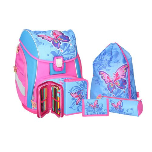 SPIRIT Schulranzen Set Pro Light Butterfly/Schmetterling