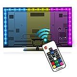 Led TV Hintergrundbeleuchtung, LED Stripes, Usb TV Beleuchtung, Lichterkette,LED Leiste, LED Lichtleiste, Reignet 6.6ft RGB Bias Beleuchtung für 40-60 Zoll HDTV,USB betriebene mit RF Fernbedienung