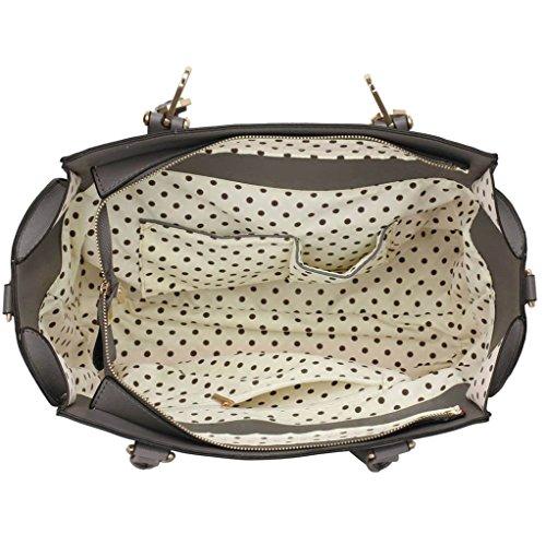 Damenhandtaschen Der Frauen Schulterbeutel Designer Neue Promi Stil Trage Groß (Lila Trage Bag1) Grau 2
