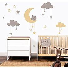 myvinilo vinilo decorativo infantil moon bear plata beige x