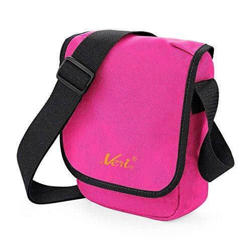 Coole Umhängetasche für Kinder Jugendliche Mädchen Jungs Tasche Schultertasche Reportertasche mit Veri Logo