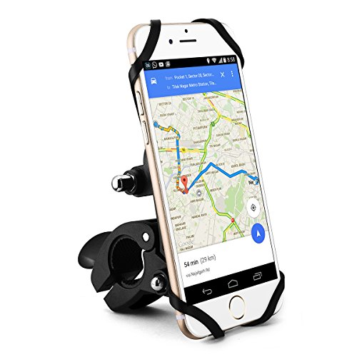 Supporto Bici Smartphone Porta Telefono e Anction Camera Supporto Magnetico per Manubri di Biciclette, Moto per Anction Camera, iPhone 7/6s/6, Galaxy S7/S6, Google Nexus 5/4, HTC e Dispositivo GPS – Pulsante di Rilascio, Rotabile a 360 Gradi, Cinturino in Gomma