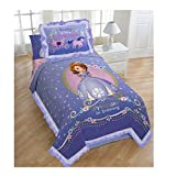 Principessa Sofia brand new Exclusive progettato Girls Twin Comforter and Sham set (viola)