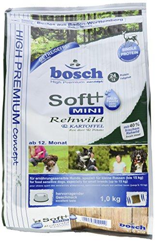 Bosch Hundefutter Soft Mini Rehwild & Kartoffel 1 kg, 1er Pack (1 x 1 kg)