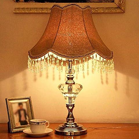 SKC LIGHTING Europäische Retro- Luxuxlampen-Landhaus-Schlafzimmer-Wohnzimmer-Nachttischlampen-hängende Kristallhauptdekoration-kreative (Auswahl Innen Anhänger 1 Licht)