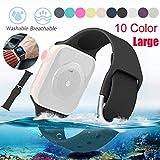 Bearbelly Bearbelly Armband Kompatibel mit Apple Watch 42 / 44mm Reine Farbe Silikon Wasserdicht Sport Einstellbare Ersatz Uhrenarmband Damen Herren Kettenriemen, Kreatives Geschenk