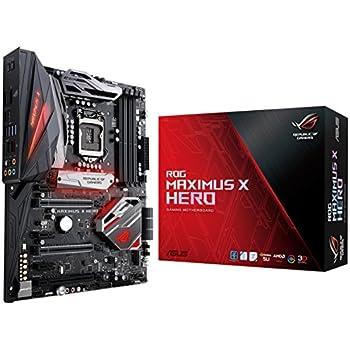 ASUS ROG Maximus X Hero (Wi-Fi AC) LGA1151 DDR4 DP HDMI M.2 Z370 ATX Motherboard with onboard 802.11ac WiFi, Gigabit LAN and USB 3.1 for 8th Generation Intel Core Processors