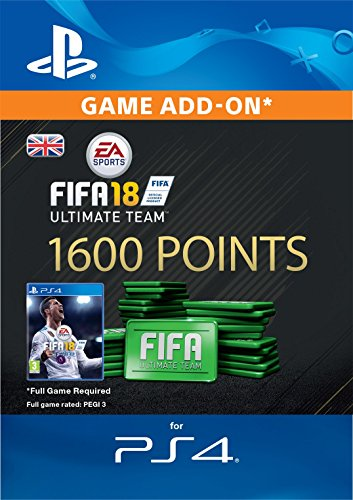 FIFA 18 Ultimate Team - 1600 FIFA Points | PS4 Download Code - UK Account