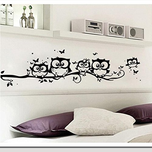 Home Dekoration Forh Cute Cartoon Eule Schmetterling Wandaufkleber Fashion Kunst DIY Home Dekor...