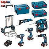 Kit Bosch ECL5P4M + Caddy (GSR 18 V-EC + GDS 18 V-EC 250 + GSR 18 V-EC TE + GBH 18 V-EC + GOP 18 V-EC + Ladegerät AL1860CV + 4 Akkus 5,0 Ah + 2 x Koffer L-Boxx 136 + Koffer L-Boxx 238 + CADDY)