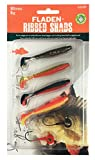 FLADEN Fishing - 4 x SOFT LURE RIBBED SHADS Assortment - Imitation Bait Fish for Predatory Fishing - Comes with 2 Lead Free Jig Heads (Pack 1, 4 x