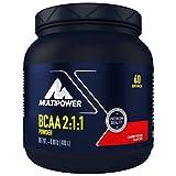 Multipower BCAA 2:1:1 Powder (glutenfreies BCAA Pulver, BCAA Drink mit den essentiellen Aminosäuren L-Leucin, L-Isoleucin und L-Valin) Kirsche (1 x 400 g)