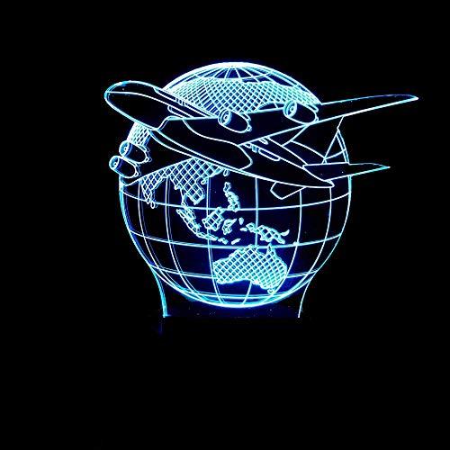 LMDH Lámpara de Mesa Creativa Ligera de acrílico del Color 3D del...