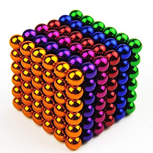 tableware_gogo Blocs aimantés pour Le développement de l'intelligence.Idéal pour Office School Home Educ, Construction 3D Puzzle Toy pour Adultes/Enfants 3mm5mm216/512/1000 Pcs Multicolore