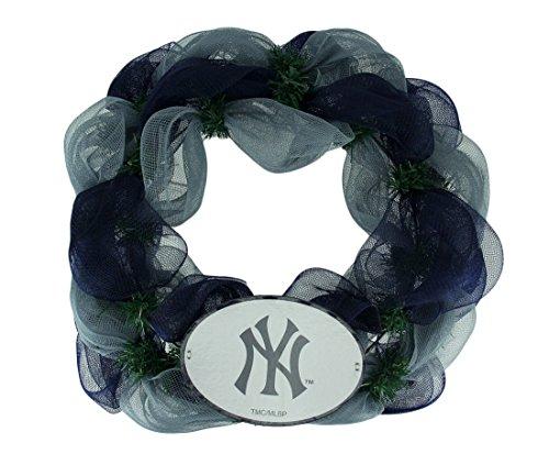 Memory Company The Kunststoff Wandbehänge MLB New York Yankees Logo Mesh Urlaub Tür Kranz 49,5x 49,5x 8,9cm farbenreiche -
