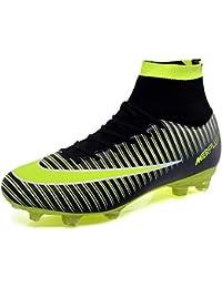 Botas de Fútbol, Zapatos de Fútbol Hombre Spike Aire Libre Profesionales Atletismo Training Botas de Fútbol Ligero Tacos Futbol Zapatos de Deporte
