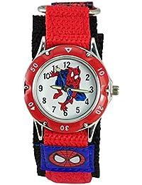 Montre étanche Spiderman pour enfants - Bracelet à fermeture rapide - Cadeau d'anniversaire unisexe - Rouge