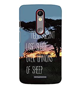 FUSON Tiger Sleep Opinions Sheep 3D Hard Polycarbonate Designer Back Case Cover for Motorola Moto X Force :: Motorola Moto X Force Dual SIM
