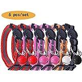 Reflektierendes Katzenhalsband Safety Breakaway Halsbänder mit Glocke, verstellbar 20,3–25,4cm pupteck