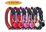 "Reflective Cat Collar Safety Breakaway Collars with Bell, Adjustable 8-10"" PUPTECK"