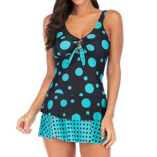 MRULIC Badeanzug 2 Stück Damen Tankini Swim Kleid Beachwear Gefärbt Charmant Bademode Plus Size Bikisuit - Hugo Boss 2 Stück