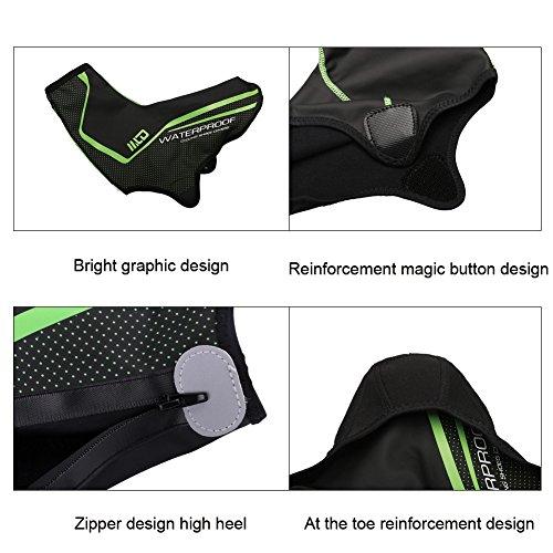 West Biking Couvre-chaussures de cyclisme - Réfléchissantes, imperméables, coupe-vent, anti-poussière, antidérapantes Black-L
