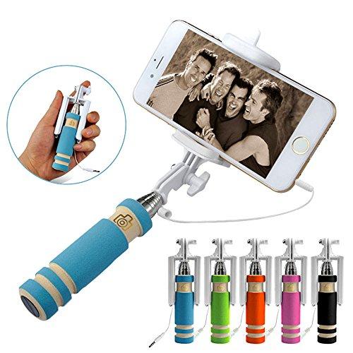 I-Sonite (blau) universell einstellbar Mini Selfie Kamera Stock-im Taschenformat Einbeinstativ Einbau-Fernauslöser für Oneplus 5T