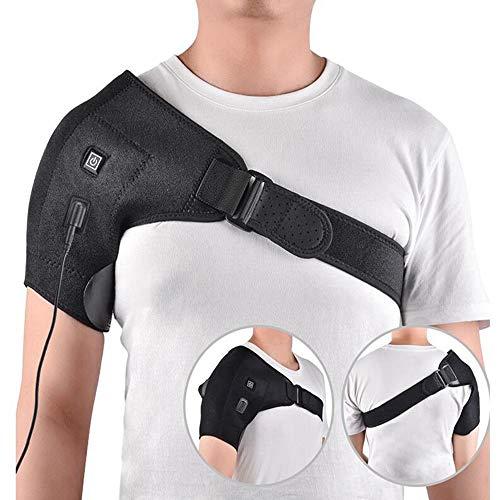 AXAXA Posture Corrector Brace und Clavicle Support Straightener für Upper Back Shoulder Elektrisches Heizkissen mit Einer Schulter Vier-Stufen-Einstellung (Heizkissen Schulter Elektrische)