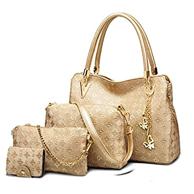 Pahajim ladies handbag ladies gift set ladies personality cosmetic bag 4 piece set ladies bag designer fashion ladies handbag spring summer autumn and winter handbag