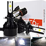 Safego 6000lm H7 COB Chip Car LED Headlight Kit Bulbs Auto LED Conversion